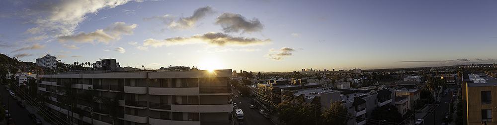 LA sunrise from