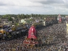 A Panoramic view of Rath Yatra in full swing