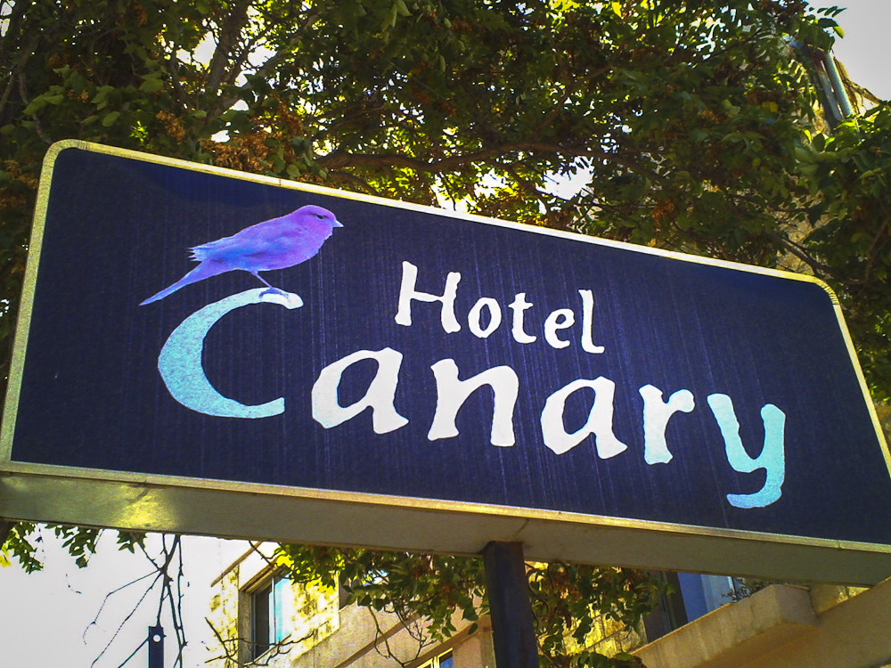 The Canary Hotel Sign -  ©Uchujin-Adrian Storey. All Rights reserved.