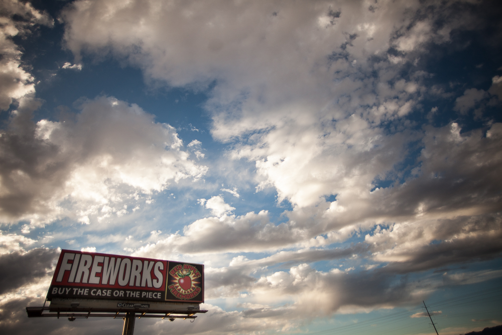 Fireworks shop sign, Nevada ©Uchujin-AdrianStorey
