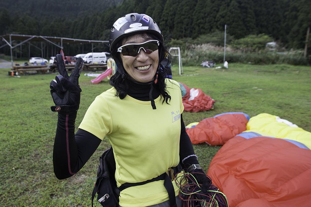 Keiko Hiraki - Womens world champion paraglider ©Uchujin-AdrianStorey_2014