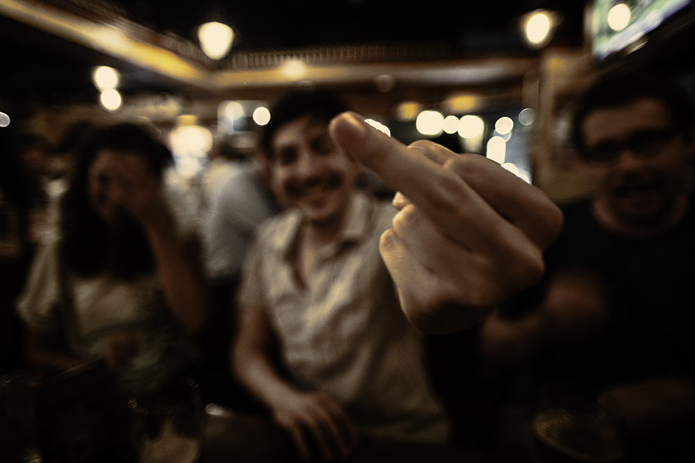 The Catalan finger ©Uchujin-AdrianStorey_2014_08_22