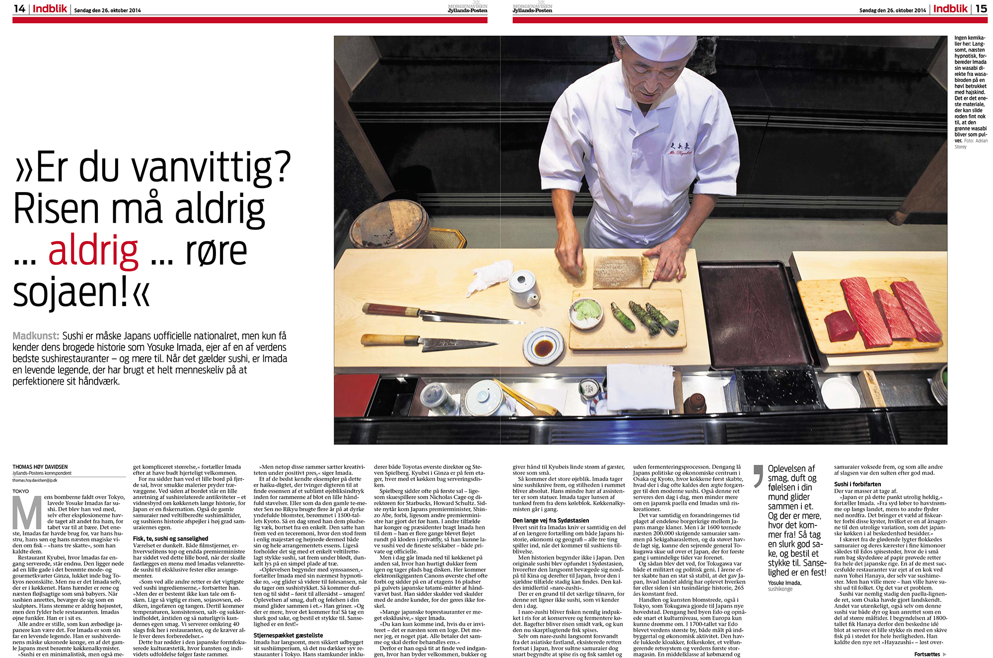 Uchujin/Adrian Storey photos - Kyubei Sushi for Jyllands Posten - page 1