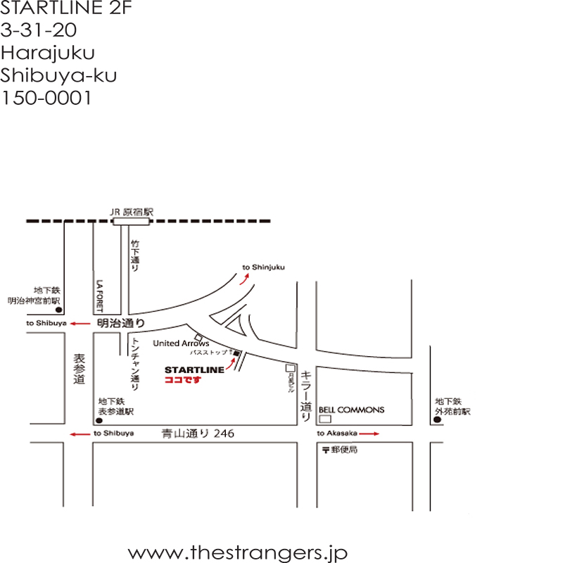 Strangers - Exhibition AW2015 Collection 11th April - Map to Startline Harajuku