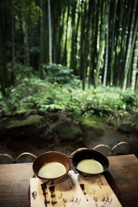 Green Tea in The Bamboo forest - Kamakura©Uchujin-AdrianStorey