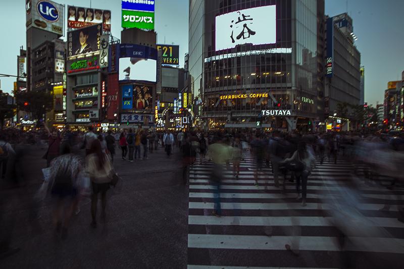 Shibuya crossing slow shutter ©Uchujin-AdrianStorey