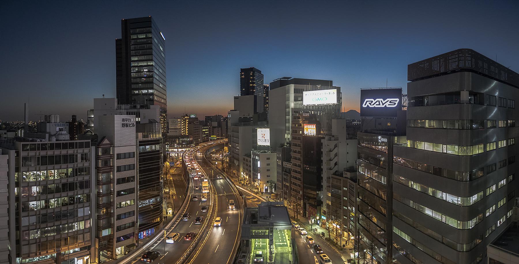 Shibuya Panorama with guest Mt Fuji appearance ©Uchujin-AdrianStorey2016-01-11_