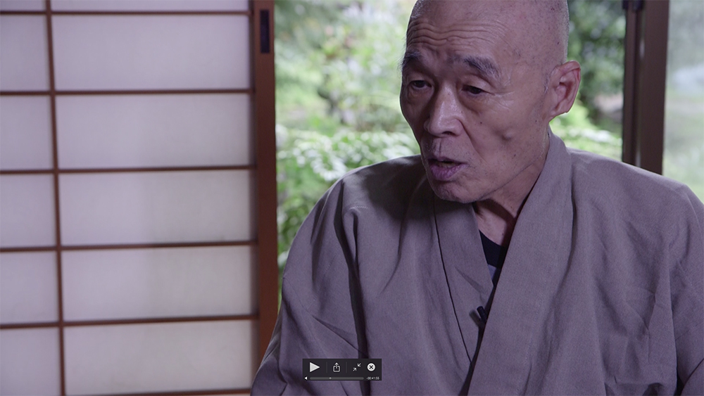 Shinzan Roshi interview - screen shot