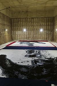 Koji Kakinuma-Large scale calligraphy works ©Uchujin-AdrianStorey2016