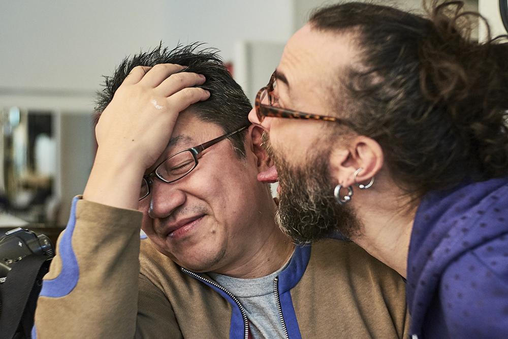 """Eiichi """"Scart"""" Miyamoto and Bearded Uchujin - A bromance ©Uchujin-AdrianStorey2016"""