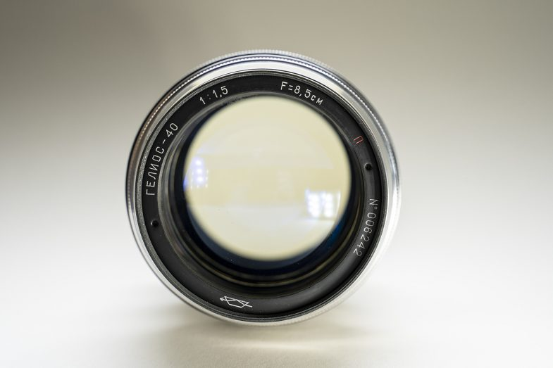 """Early 60's """"Red P"""" Helios 40 85mm F1.5-frontview-©Uchujin-AdrianStorey-040619"""