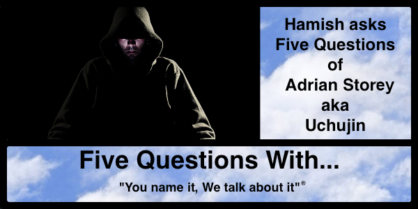 Hamish Downie's Five Questions with Adrian Story aka Uchujin for Two Gay Geeks